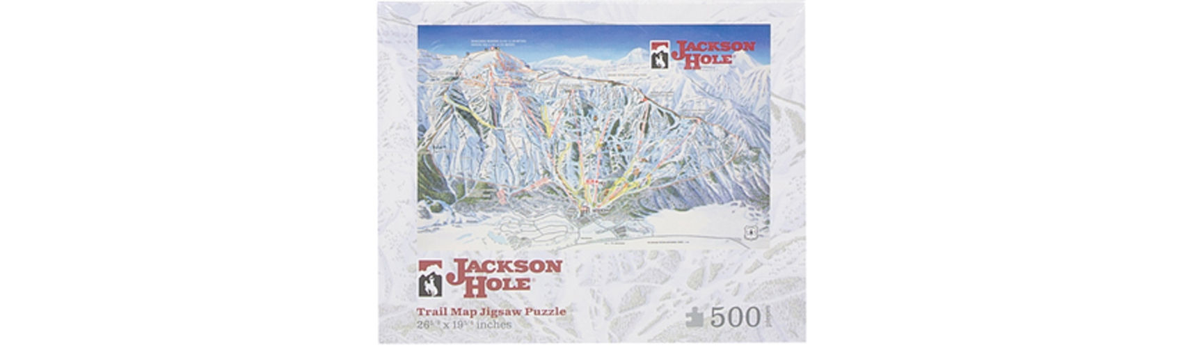 Picture of Jackson Hole Trail Map Puzzle - 19x26
